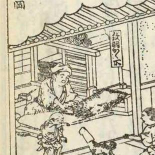 紀伊国名所図会より「紋羽織屋」(部分、その2)