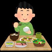 食事(男性)イラスト2