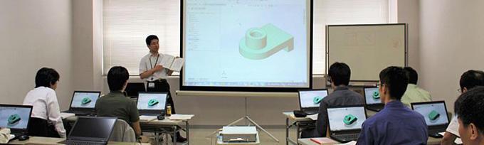 3次元CADスクール 講義風景