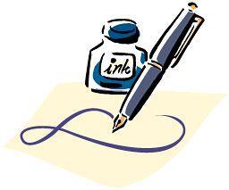 (イラスト)万年筆とインク瓶
